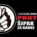 """Sutra protest """"Šipak za banke"""""""