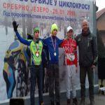 Na Prvenstvu Srbije u ciklo krosu takmičari Biciklističkog kluba Borac ostvarili uspehe