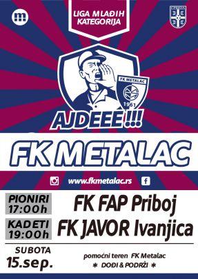 Pojedinacna_PlakatNajavaFKMetalac_FAP-i-Javor_omladinci