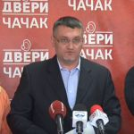 Dveri pozvale gradonačelnika Čačka na TV duel i apelovale na građane da se ne plaše