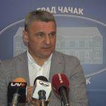 Gradonačelnik Čačka u otvorenom pismu o političkim neistomišljenicima