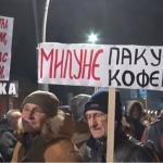 Četvrti protest u Čačku: Atmosfera slabija, manji broj ljudi