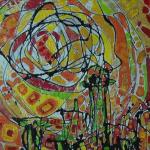 Izložba slika čačanske umetnice Ivane Knežević otvorena u kafeu Moment u Ulici Dragiše Mišovića 43