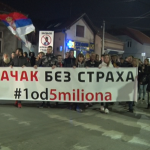 """Održan deveti protest ,,1 od 5 miliona"""" u Čačku"""