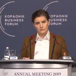 Ana Brnabić na Ekonomskom forumu na Kopaoniku