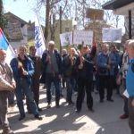 Protest radnika FRA ispred Privrednog suda